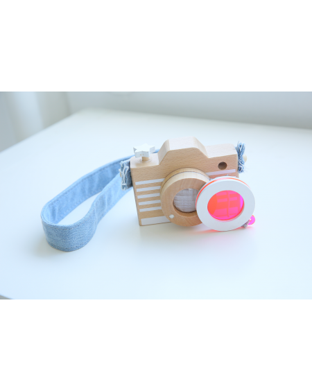 Toy Camera with Pink Lens