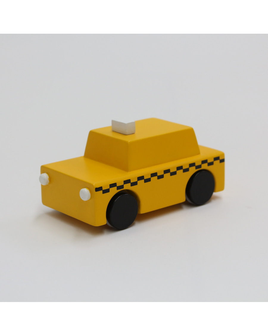 NYC yellow taxi wooden toy