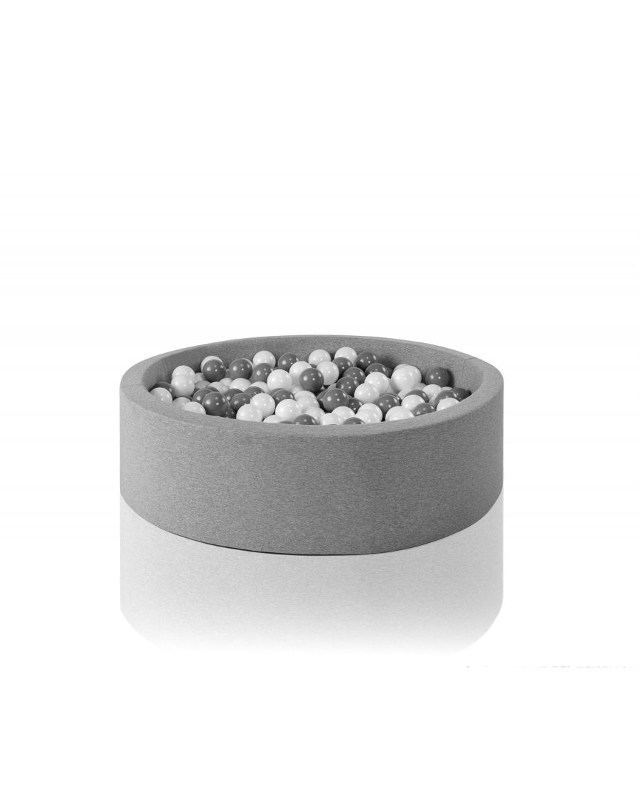 Light grey round ball pit