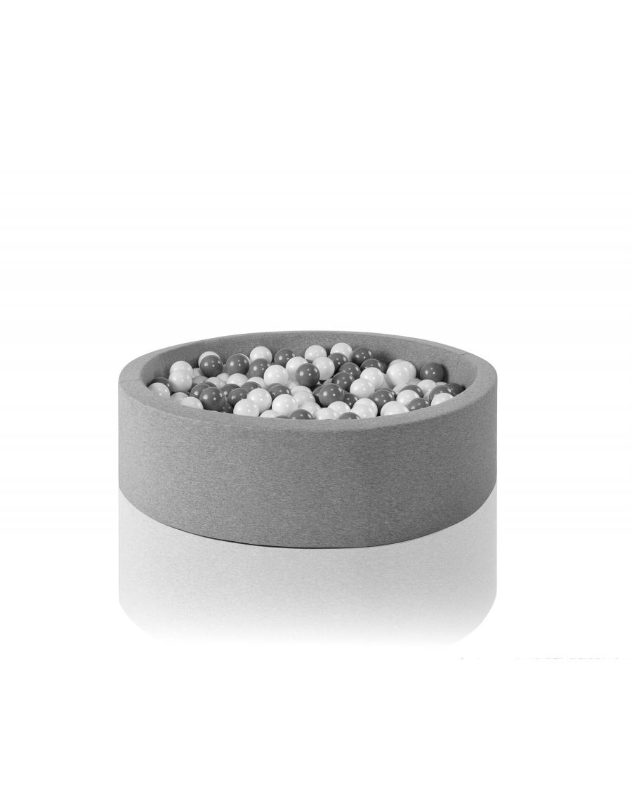 Light grey round ball pit