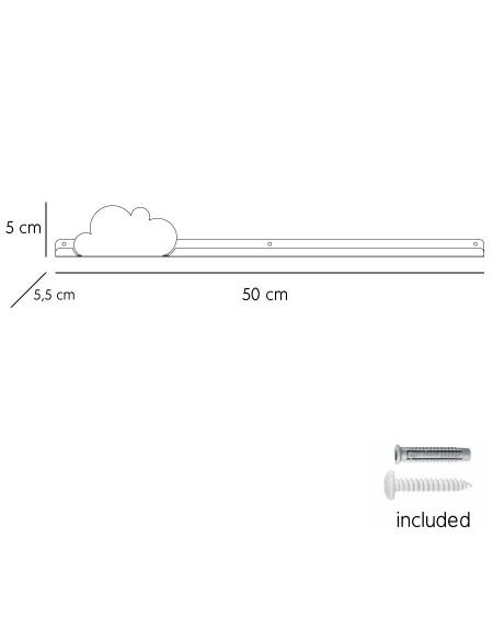 Long shelf & sky blue cloud stickers