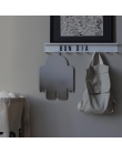 White plain wall hook