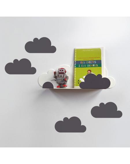 Etagère nuage & stickers gris | Tresxics | MyloWonders