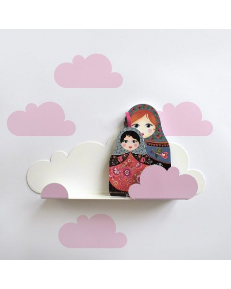 Shelf cloud & pink cloud stickers