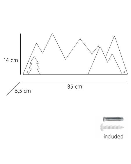Shelf mountain & black fir stickers