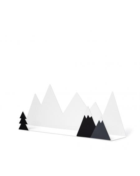 Etagère montagne & stickers noir