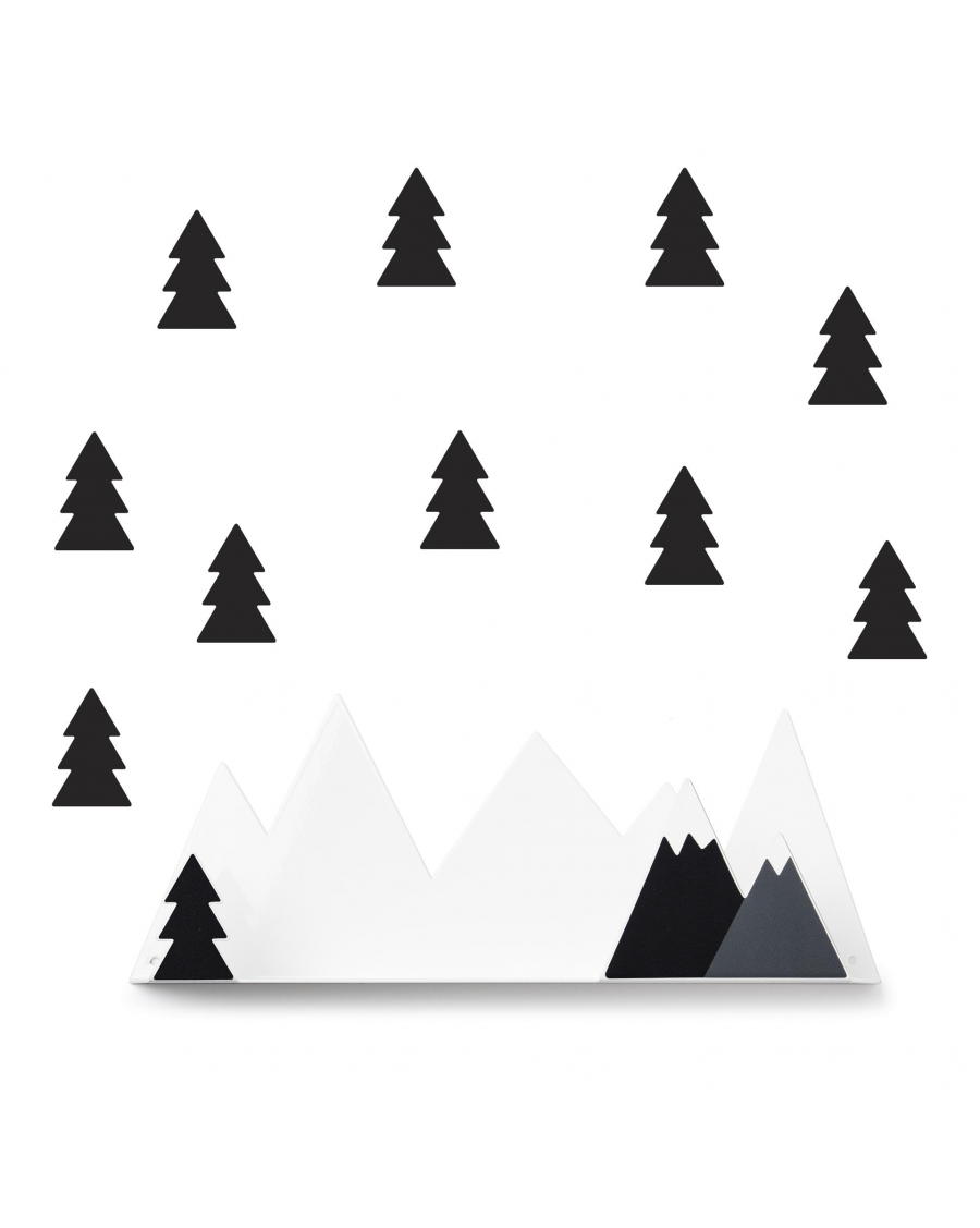 Shelf mountain & black fir stickers