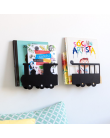Train bookshelf - black