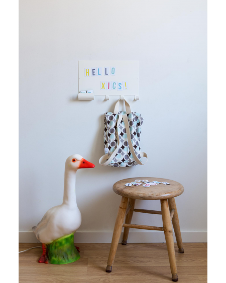 Magnet note board hook and multicolour letters