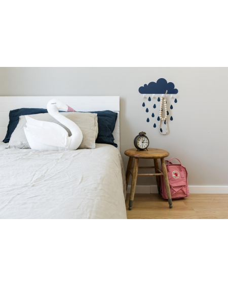 Coat rack oil blue cloud and raindrop stickers