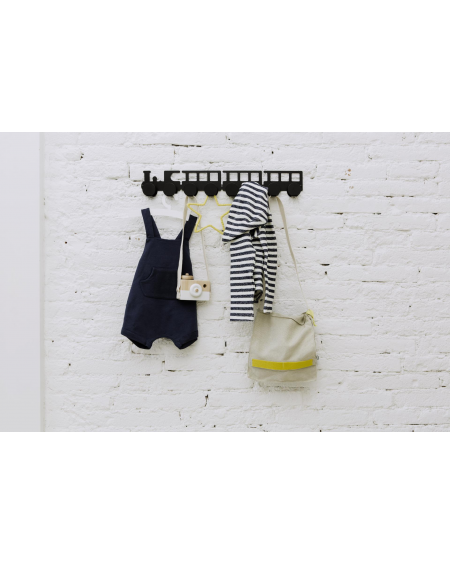 Black train coat rack - kids - tresxics - MyloWonders