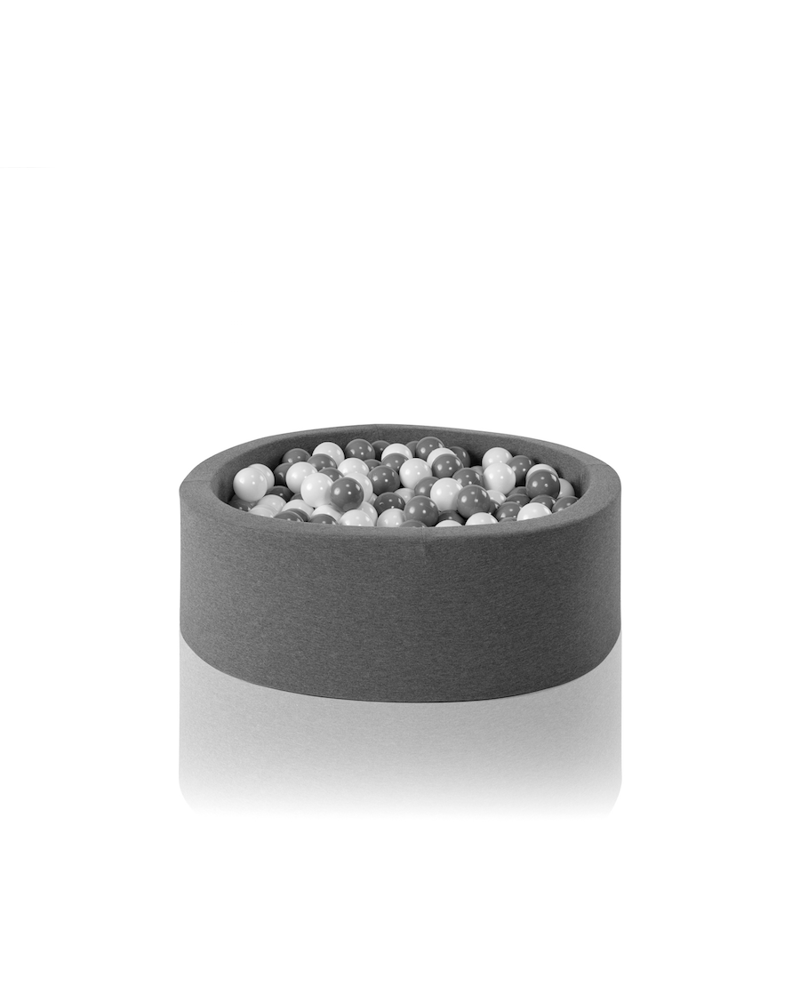 Grey round ball pit