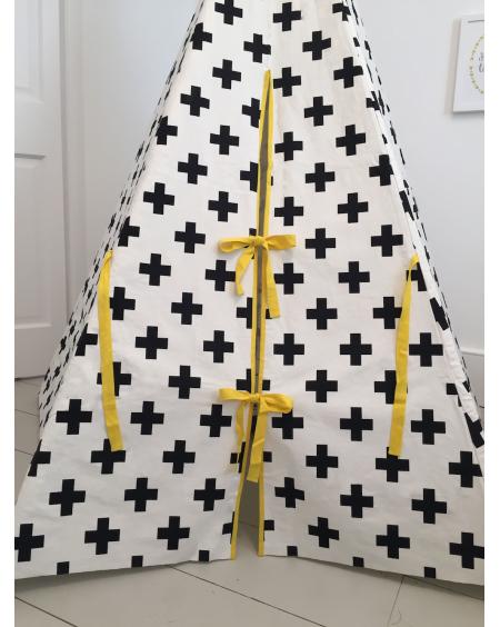 Cross Teepee Yellow Trim