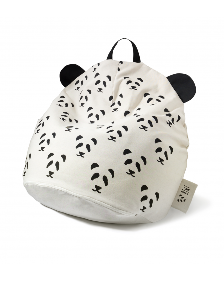 Bini Pandas Pouffe Blanck Handle   MyloWonders