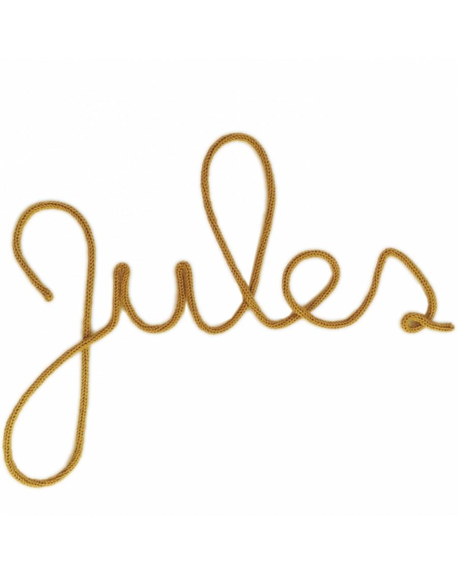 Prénoms personnalisés - Décoration murale en tricotin | Charlie & June | MyloWonders
