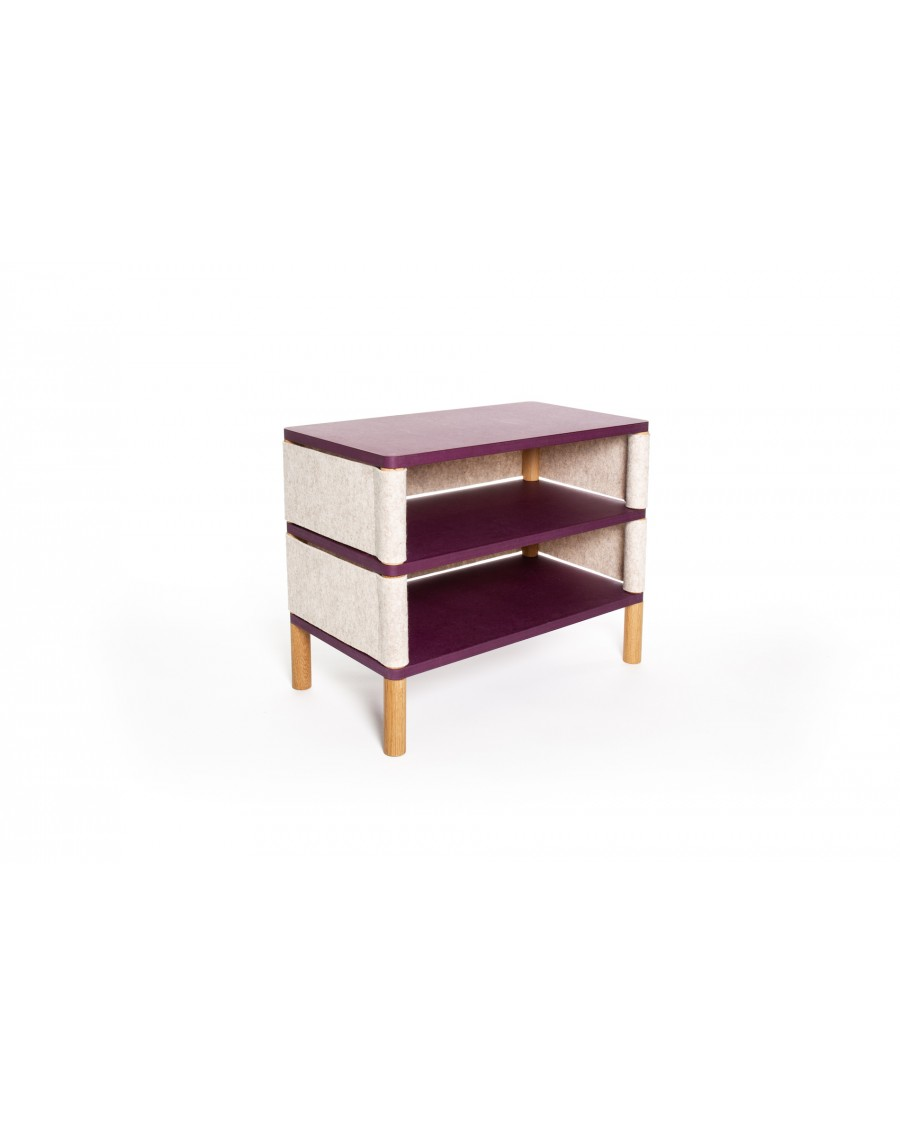 Double bookshelf - Montessori Inspired Purple | Coclico | MyloWonders