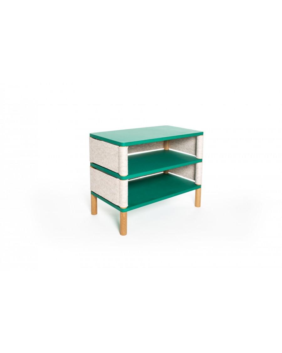 Double bookshelf - Montessori Inspired Green | Coclico | MyloWonders