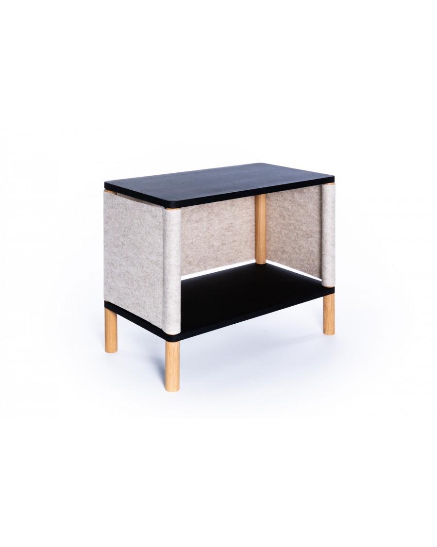 Etagère inspirée par Montessori Noir - Teo| Coclico | MyloWonders