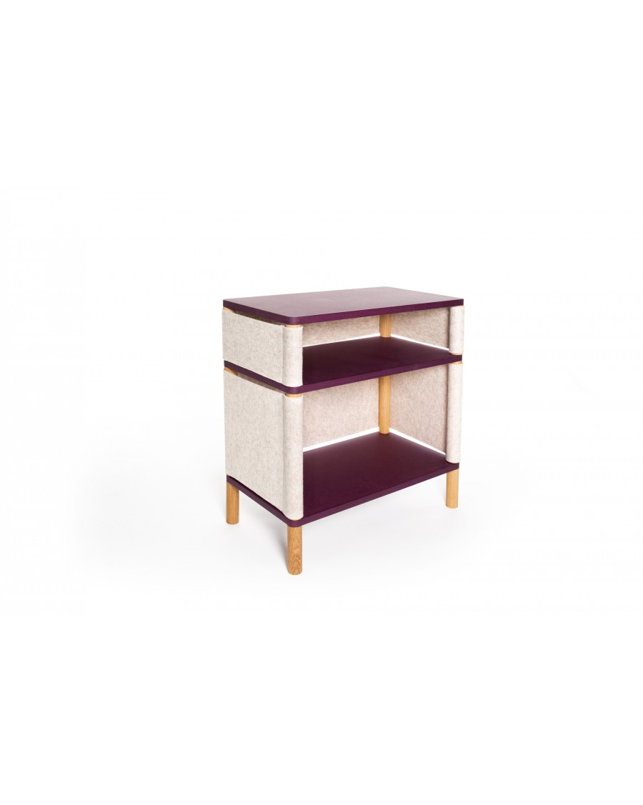 Combi Bookshelf - Montessori Inspired Purple - Teo Victor | Coclico | MyloWonders