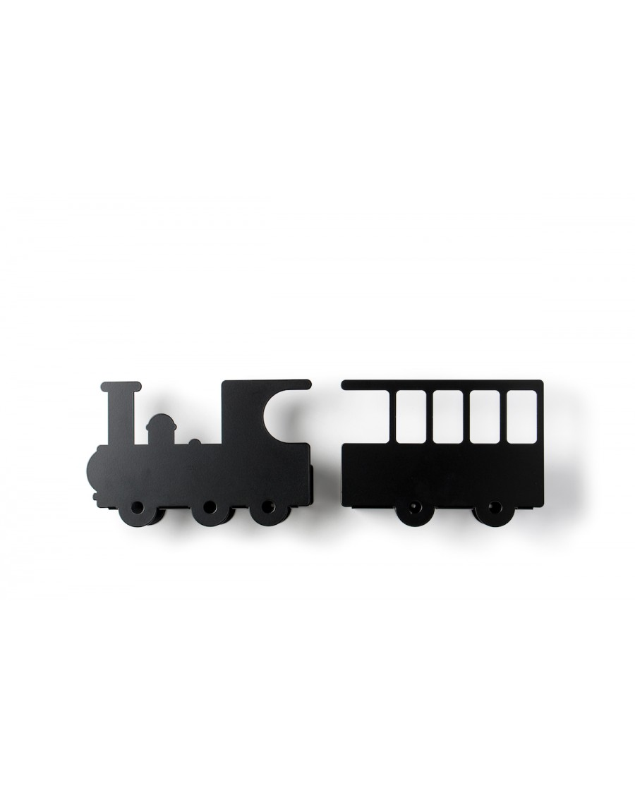 Train bookshelf - black | Tresxics | MyloWonders
