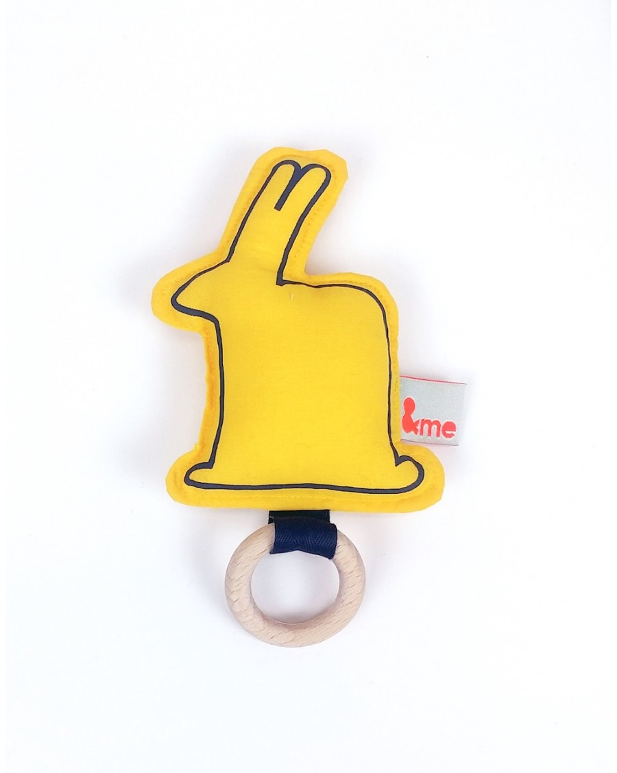 Bunny teether yellow | Andme | MyloWonders