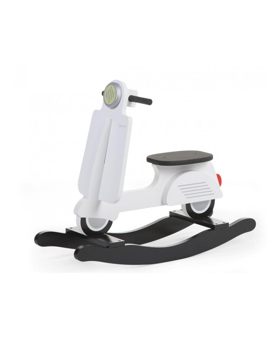 Scooter à bascule blanc et noir - Mylowonders