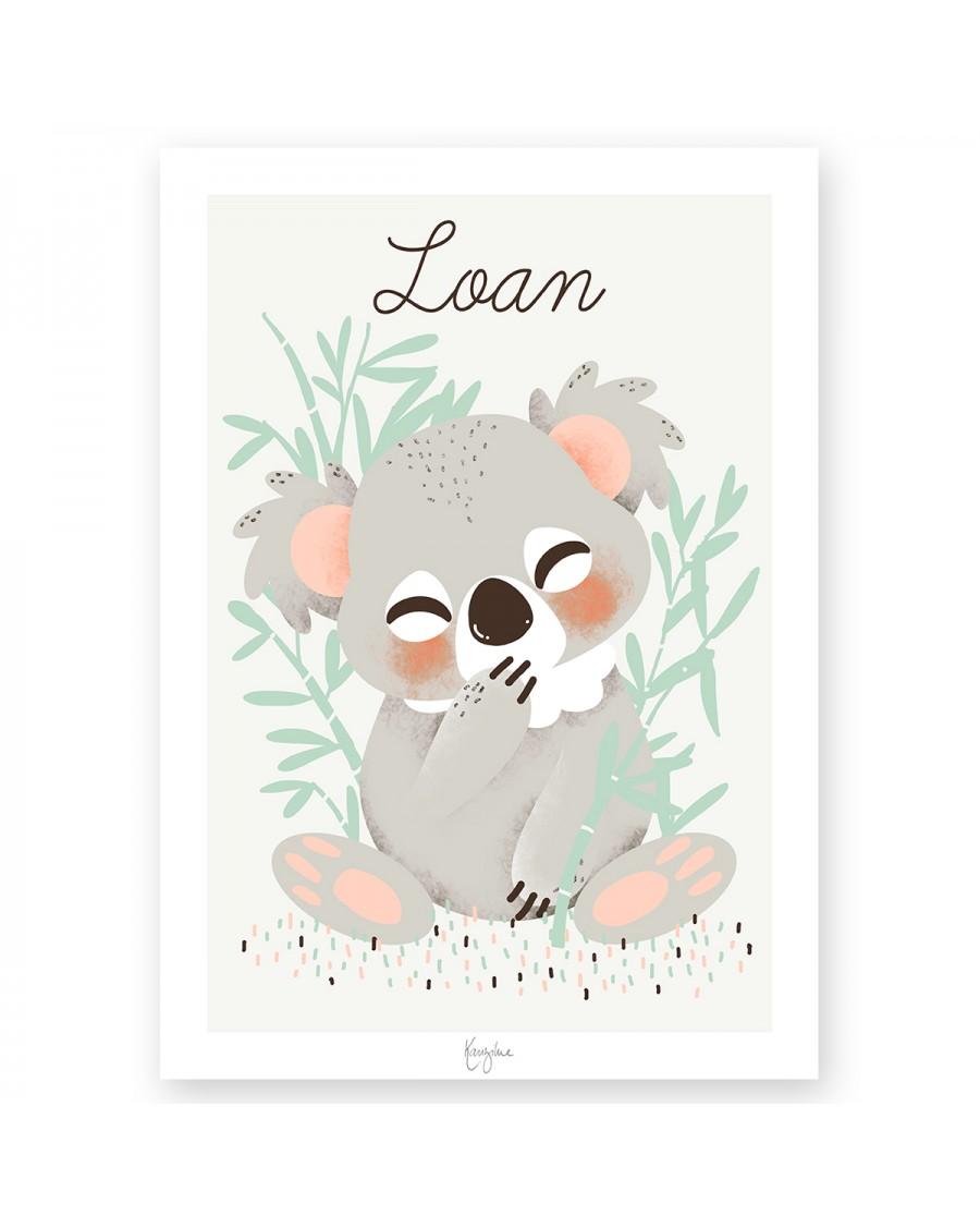 Customisable Poster - Koala bear | Kanzilue | MyloWonders