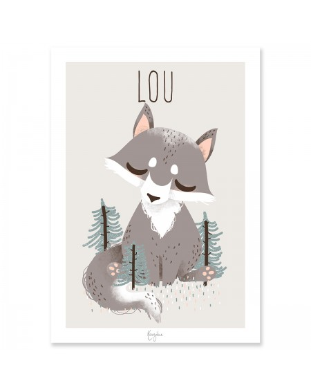 Customisable Poster - Wolf | Kanzilue | MyloWonders