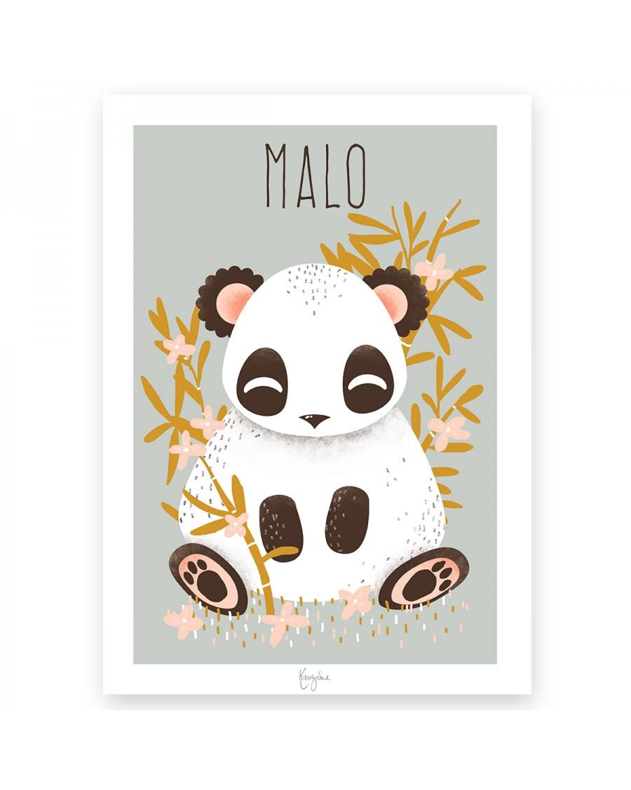Affiche personnalisable – le panda | Kanzilue | MyloWonders