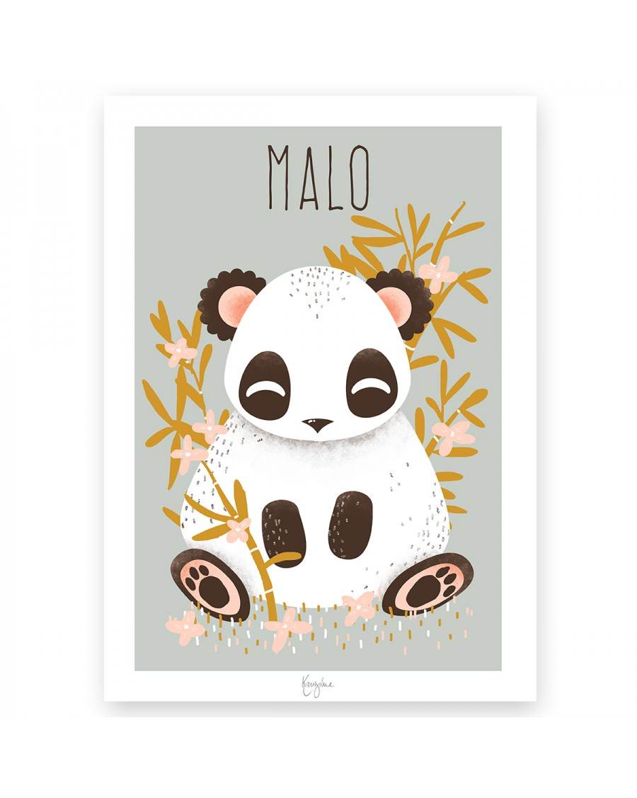Customisable Poster - Panda | Kanzilue | MyloWonders