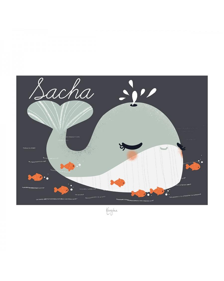 Customisable Poster - Whale | Kanzilue | MyloWonders