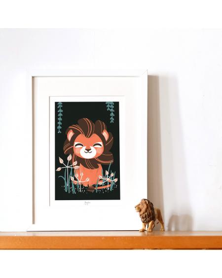 Customisable Poster - Lion | Kanzilue | MyloWonders