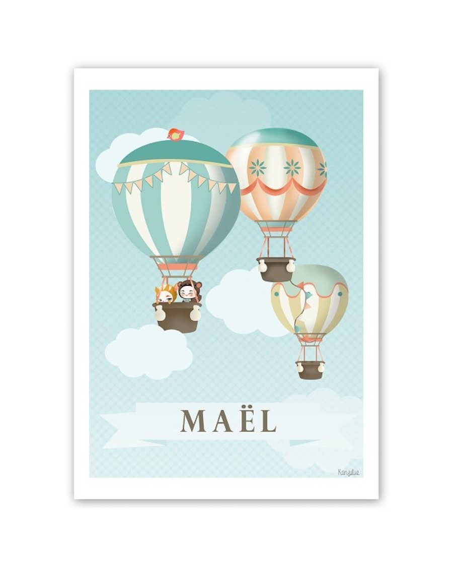 Affiche personnalisable – les jolies montgolfières | Kanzilue | MyloWonders