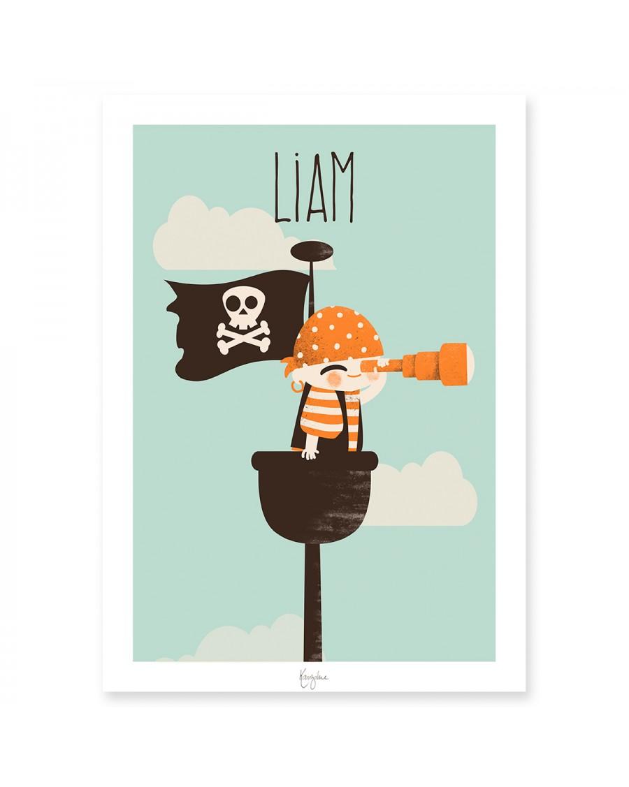 Customisable Poster - Little Pirate | Kanzilue | MyloWonders