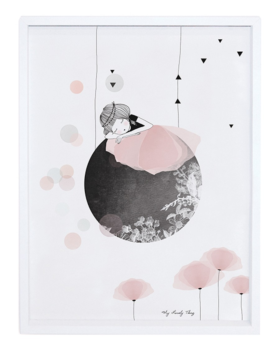 Siesta on the moon - Art Print - lilipinso - mylowonders