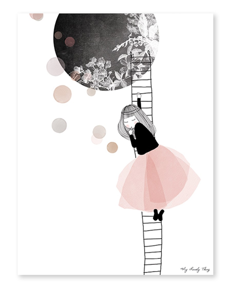 The moon - Art Print - lilipinso - mylowonders