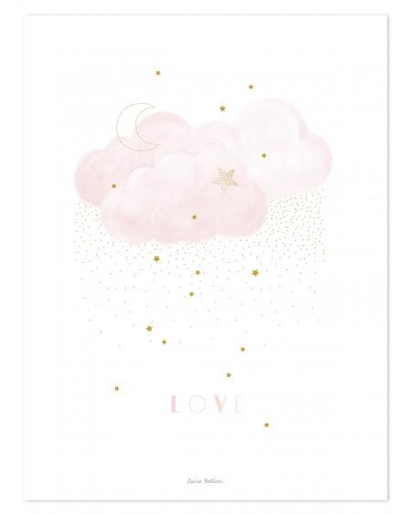 Sweet Love - pink - Art Print - lilipinso - mylowonders