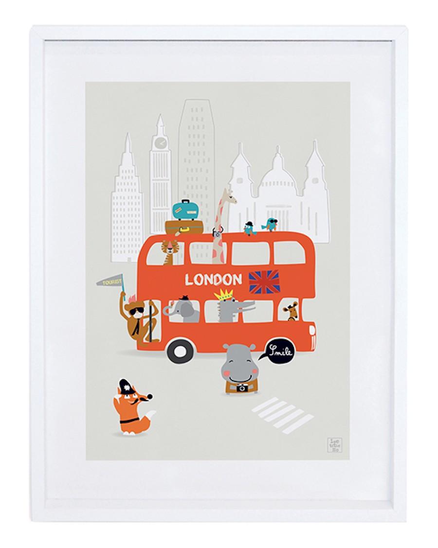 London - double-decker bus - Art Print - lilipinso - mylowonders