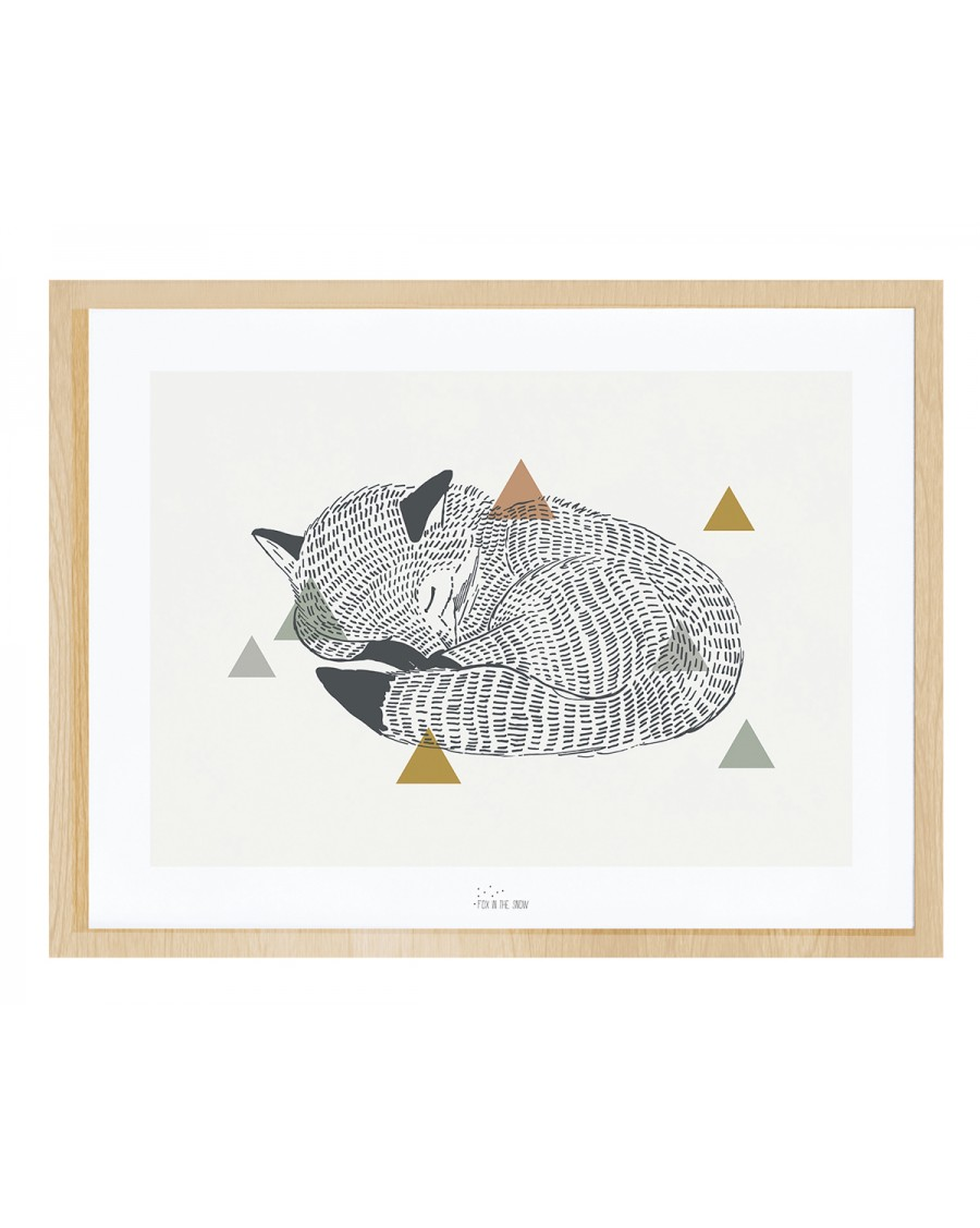 Renard endormi - Affiche décorative - lilipinso - mylowonders