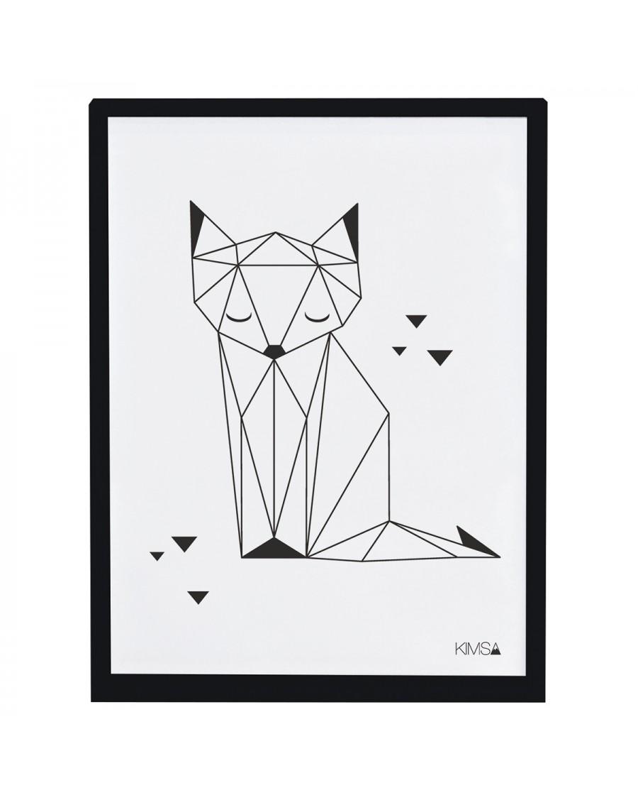 Origami - Renard - Affiche décorative - lilipinso - mylowonders