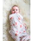 Organic Swaddle Blanket Flamingo - mama siesta - mylowonders