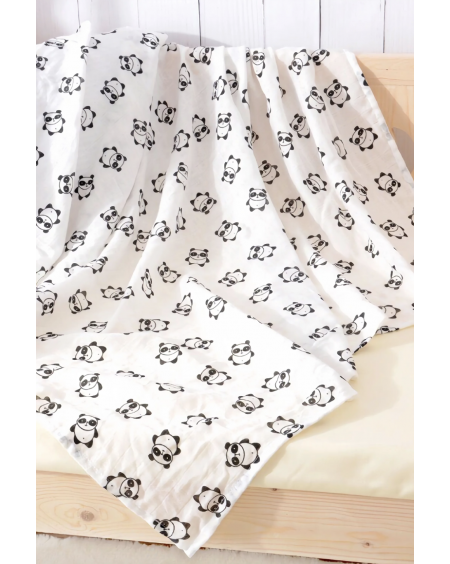 Organic Swaddle Blanket Panda - mama siesta - mylowonders
