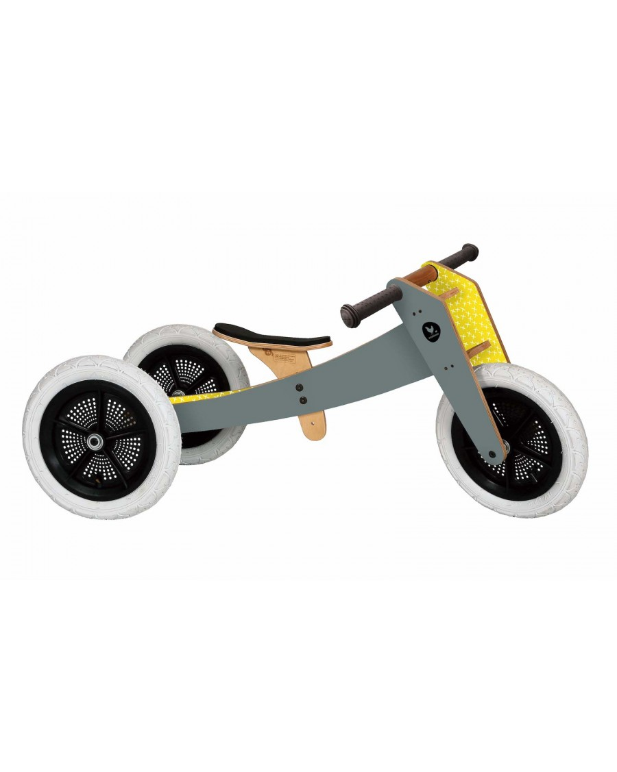 3 in 1 Balance Bike Grey - wishbone - mylowonders