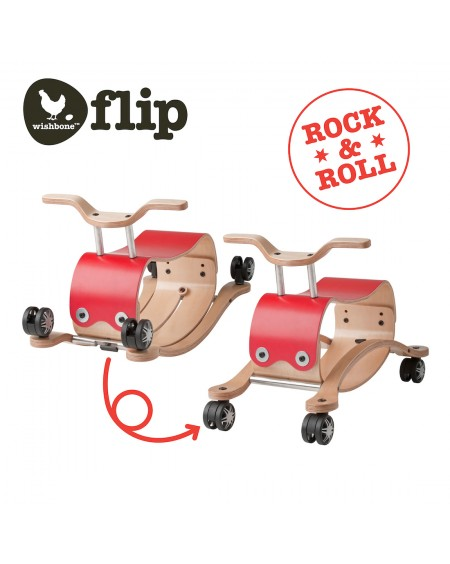 Flip Red - 3 in 1 Push, rock and ride - wishbone - mylowonders