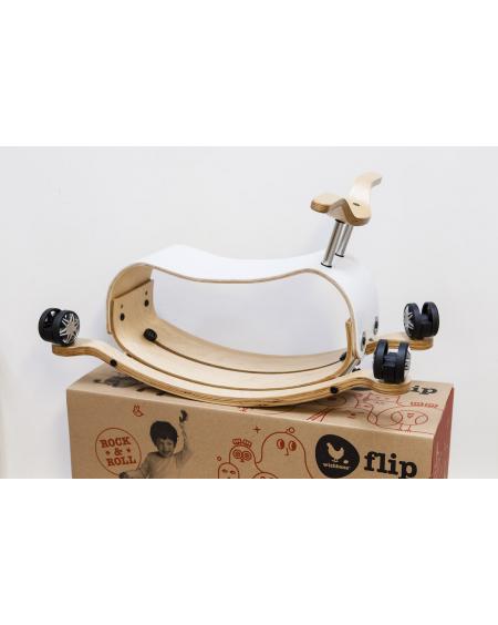 Flip White - 3 in 1 Push, rock and ride - wishbone - mylowonders