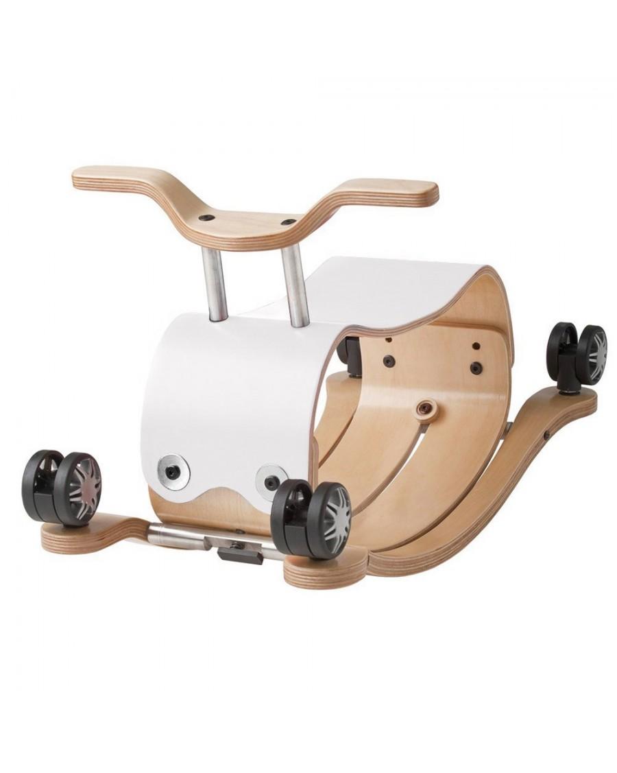 Flip Blanc - 3 en 1 Bascule, chariot et porteur - wishbone - mylowonders