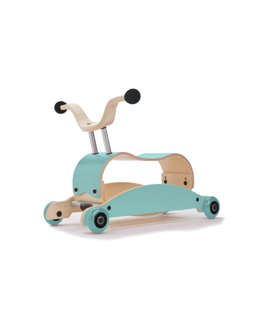 3in1 Mini Flip Blue - Walk, Rock & Ride - wishbone - mylowonders