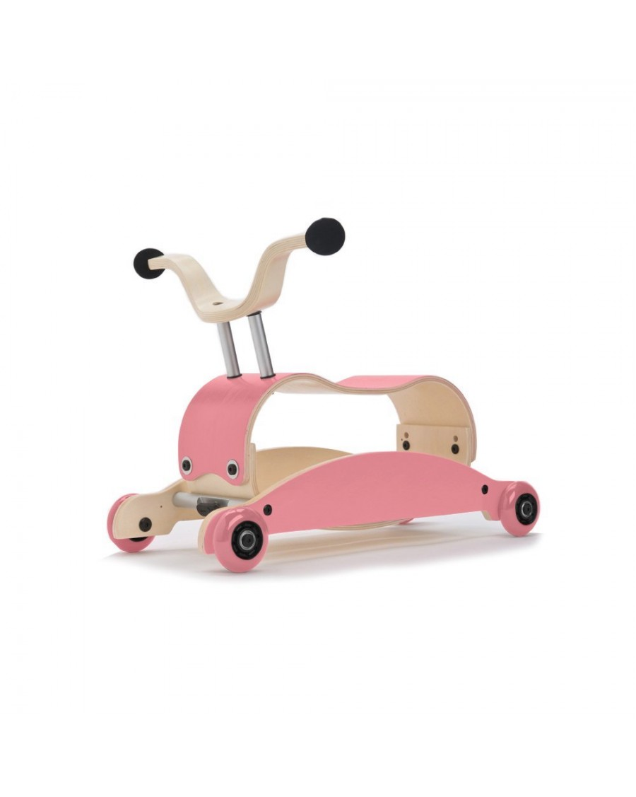 3in1 Mini Flip Pink - Walk, Rock & Ride - wishbone - mylowonders