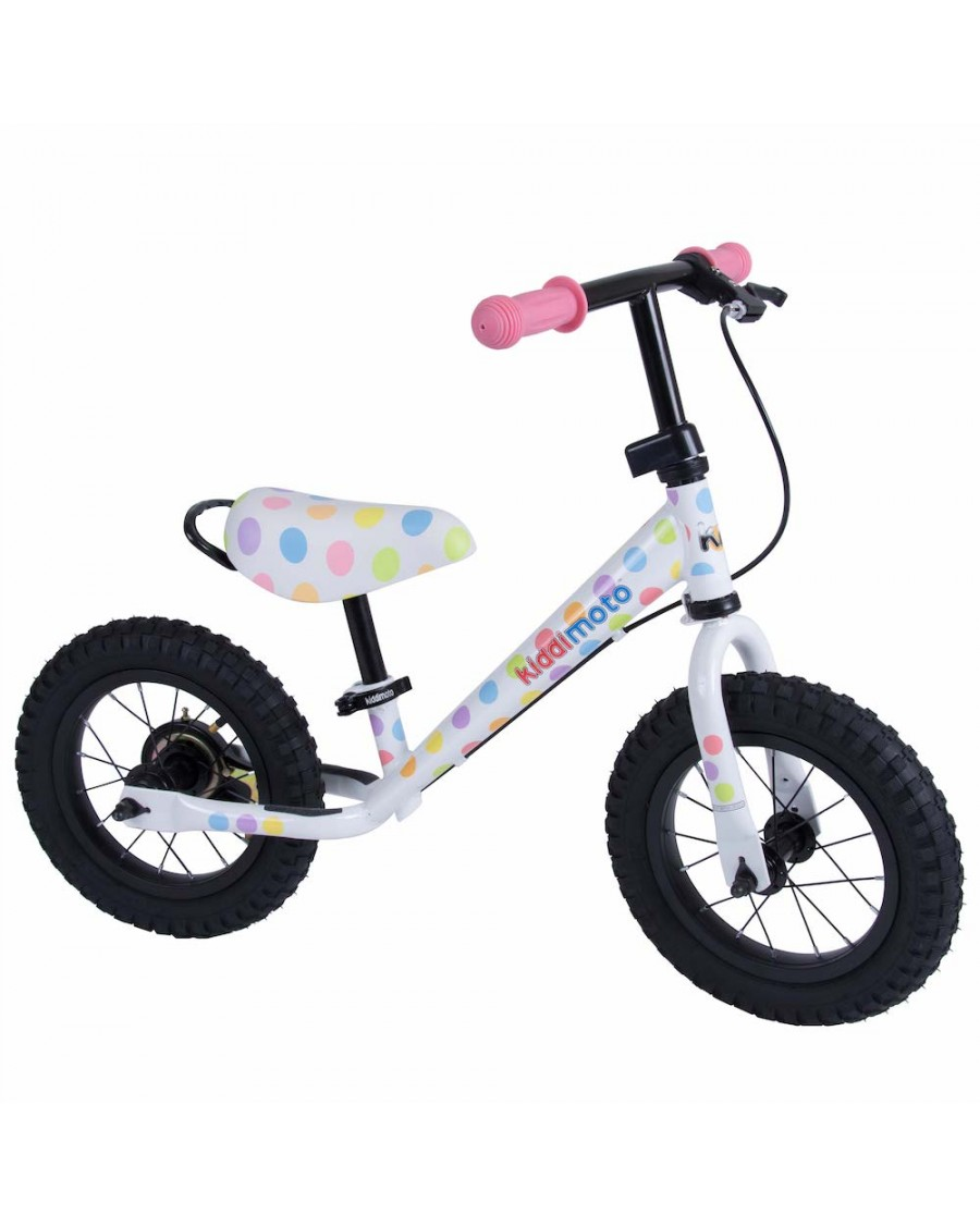 Pastel Dotty Metal Balance Bike Max - kiddimoto - mylowonders