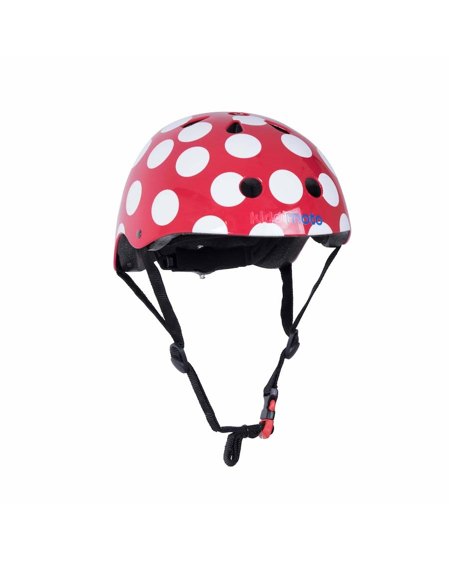 Red Dotty Helmet - kiddimoto - mylowonders